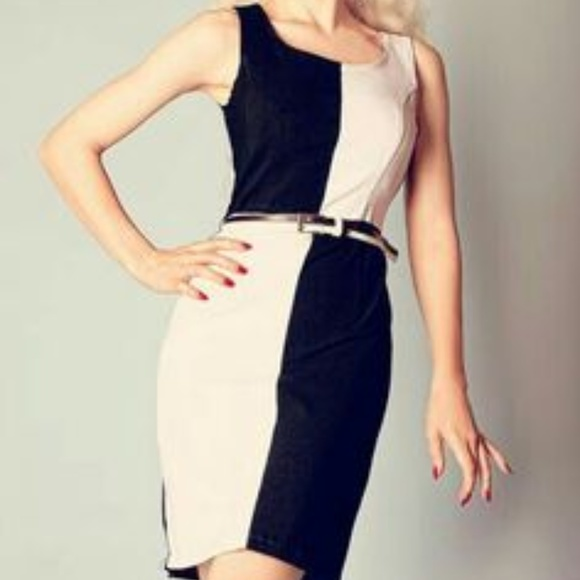 544ad4a1461f4 Mod About You Black and White Dress